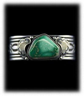 Men's Turquoise Bracelet - Navajo Stampwork