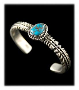 Bisbee Turquoise Bracelet by Ben Yazzie