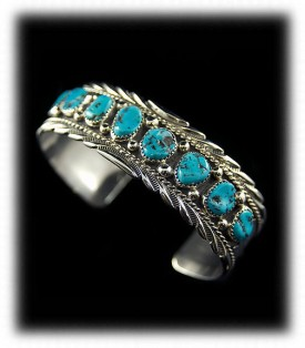 Navajo Indian Jewerly - Navajo Turquoise Bracelet
