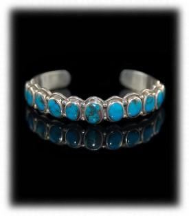 Navajo Row Bracelet - Bisbee Turquoise