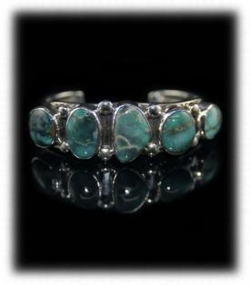 Navajo Row Bracelet - Damele Turquoise Navajo Jewelry