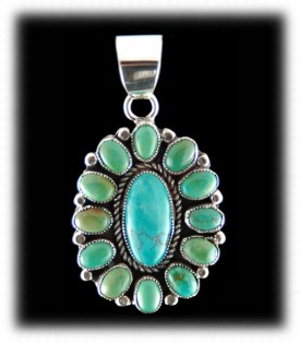 Navajo Silver Pendant - Indian Silver Jewelry