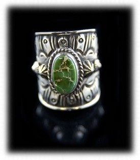 Southwest Silver Mens Ring - Navajo Handmade