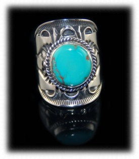 Navajo Turquoise Ring - Navajo Silver Jewelry