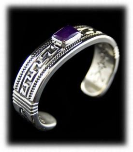 Navajo Handcrafted Sugilite Bracelet