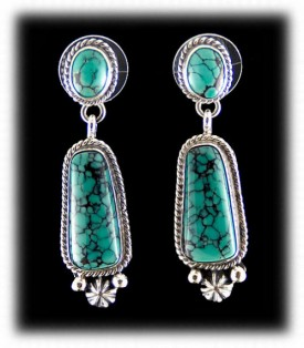 Navajo Turquoise Drop Earrings