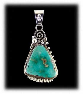 Indian Turquoise Jewelry Pendant