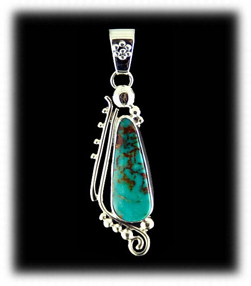 Navajo Handcrafted Turquoise Pendant
