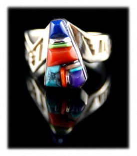 Native American Turquoise and Gemstone Ring Bands