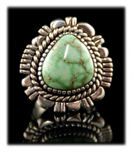 Navajo Turquoise Ring by Leo Yazzie
