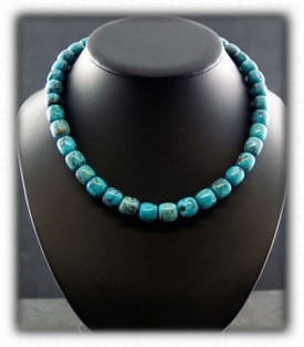 Blue Diamond Turquoise Necklace Turquoise Beads -