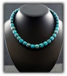 Blue Diamond Turquoise Necklace Turquoise Beads -