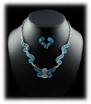 Inlaid Turquoise Necklaces Jewelry from Durango Silver Co
