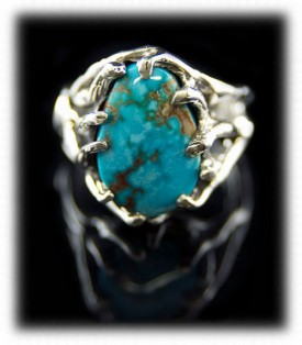 Royston Turquoise and Silver Ring