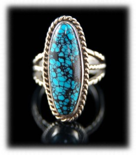 Nevada Spiderweb Turquoise Ladies Ring