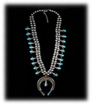 Old Pawn Navajo Turquoise Necklace