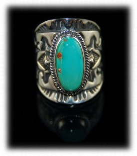 Hand Stamped Navajo Jewelry - Navajo Mens Ring