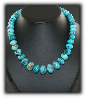 Persian Turquoise Beaded Necklace