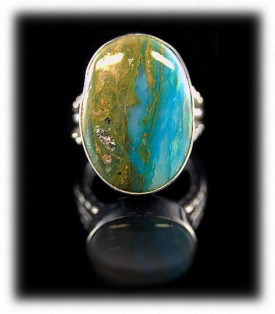 Peruvian Opal Sterling Silver Ring