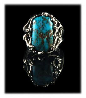 Pilot Mountain Blue Turquoise Ring