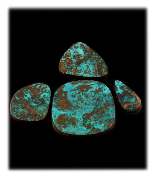 Turquoise Cabochons from the Pilot Mountains