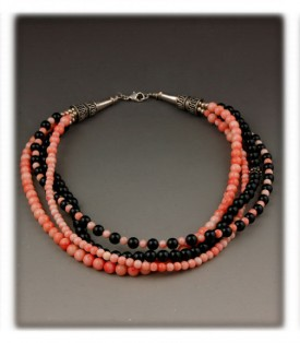Pink Coral Bead Necklaces