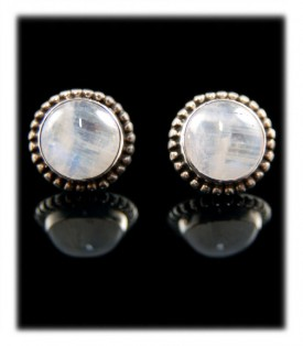 Sterling Silver Earrings with Moon Stone
