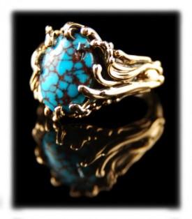 Rare Spiderweb Turquoise Jewelry