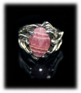 Sterling Silver Ring with Rhodocrocite
