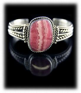 Rhodocrosite Bracelet in Sterling Silver