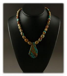 Ribbon Turquoise Bead Pendant