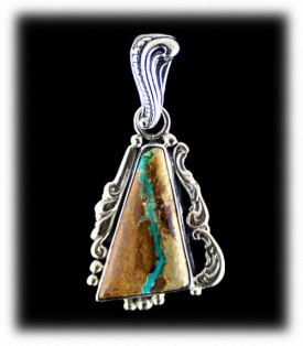 Fashion Ribbon Turquoise Pendant