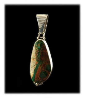 Ribbon Turquoise Pendant with green Royston Turquoise