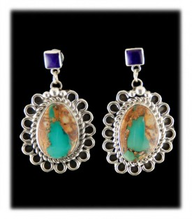 Royston Ribbon Turquoise Earrings