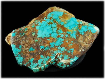 Large Spiderweb Royston Turquoise Rough