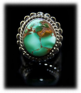 Mens Green Turquoise Ring with Royston Turquoise
