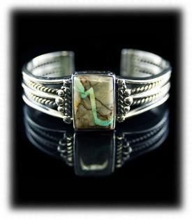 Womens Ribon Turquoise Bracelet by John Hartman