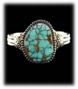 Royston Spiderweb Turquoise Bracelet