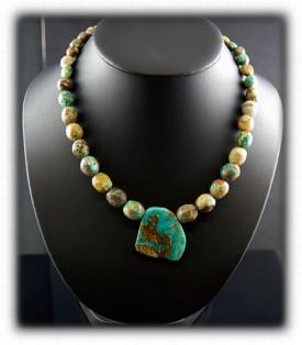 Royston Turquoise Bead Pendant