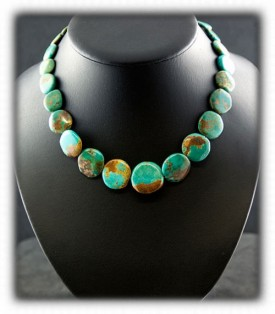 Green Turquoise Beaded Jewelry - Turquoise Necklace
