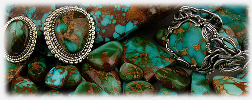 Royston Turquoise Cabochons and high grade Royston Turquoise jewelry