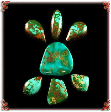 High Grade Royston American Turquoise Cabochons