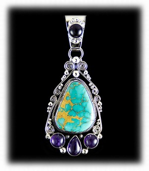 Royston Turquoise and Sugilite Necklace Jewelry