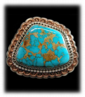 Royston Turquoise Buckle - Southwest Silver