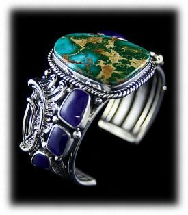 Royston Turquoise and Sugilite Bracelet