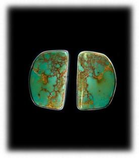 Green Turquoise Stud Earrings