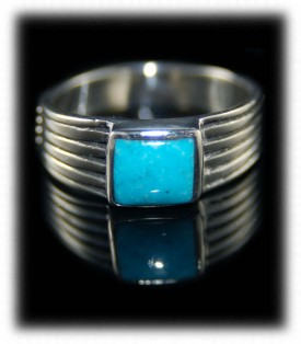 Turquoise Saddle Men Ring Bands