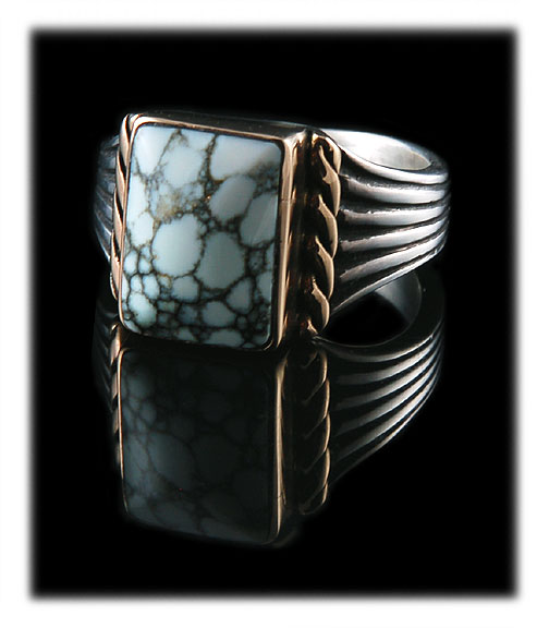 Silver and Gold Turquoise Rings from Durango Silver Company