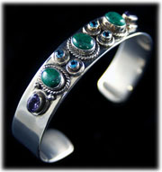 Silver and Turquoise Jewelry Bracelet