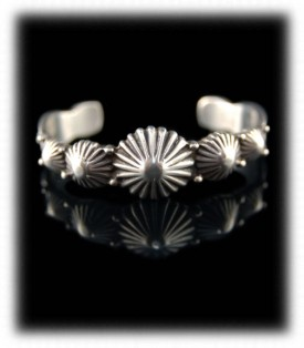 Fluted Silver Concho Bracelet